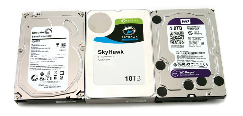 Жесткие диски для видеонаблюдения Seagate skyhawk и WD Purple