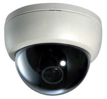 Уличная и внутренняя камера видеонаблюдения в купольном исполнении