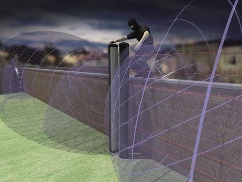 Проникновение на территорию, огражденную забором, нарушителя.