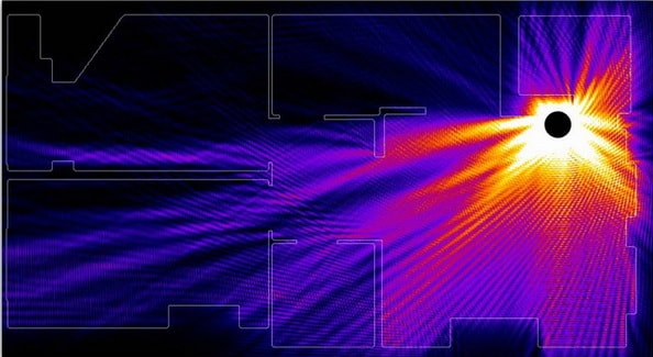 Распространение сигнала WiFi в помещении, отражение от стен
